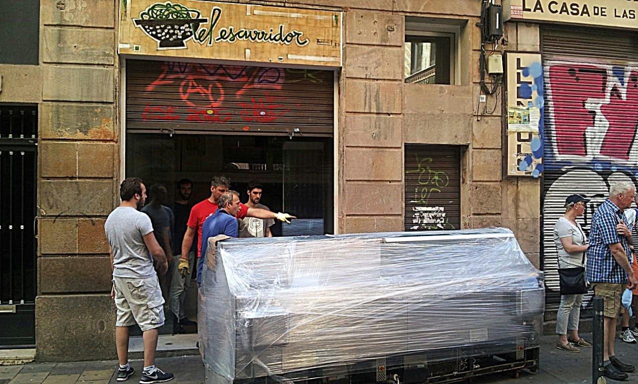 transporte expositor de helados