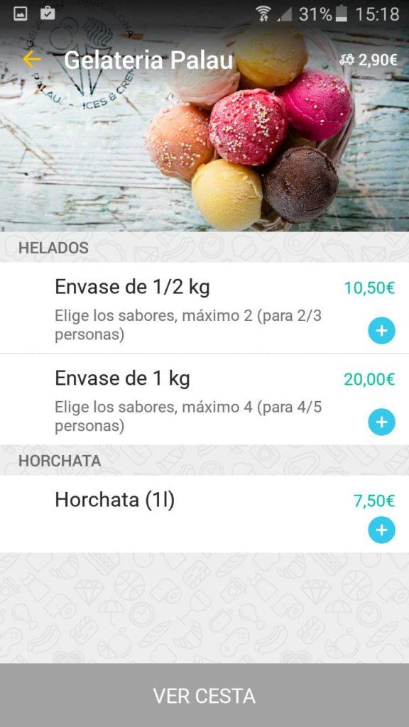 helados a domicilio barcelona