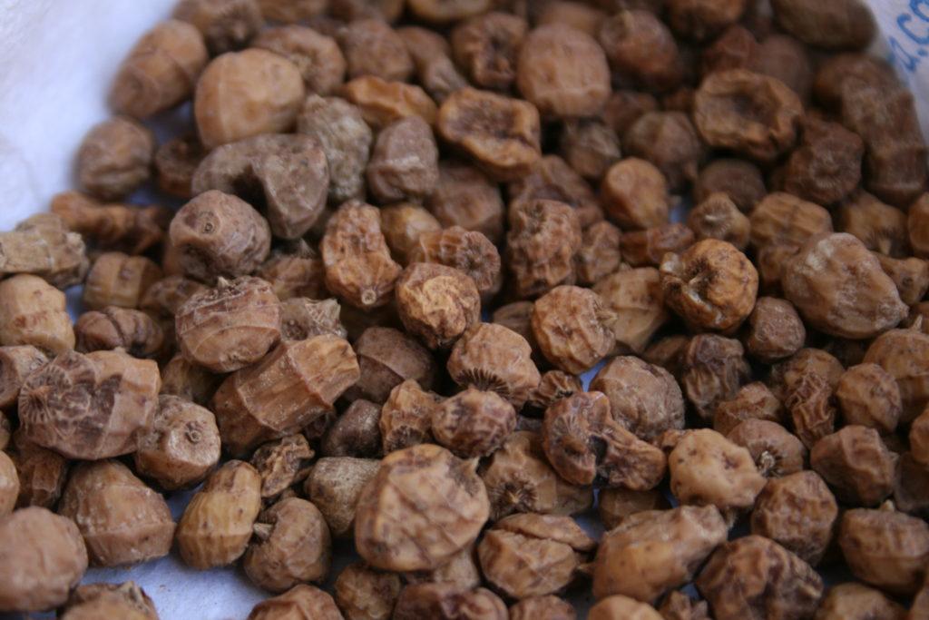 Chufas naturales para la preparación de la horchata