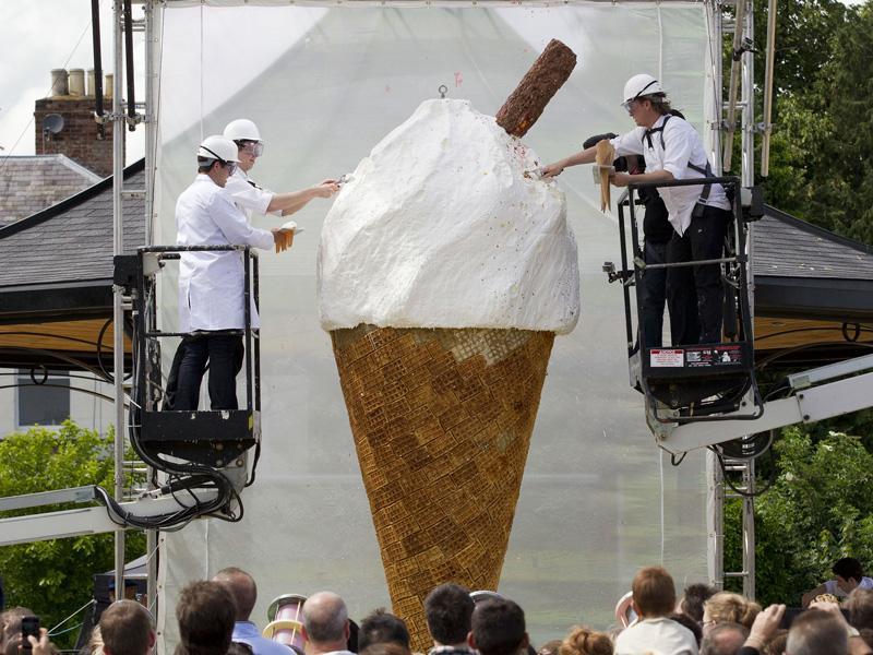 el helado mas grande del mundo